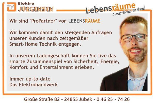 Elektro Jürgensen ist ProPartner von LEBENSRÄUME