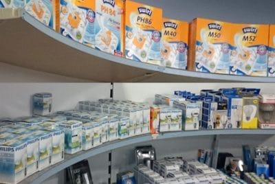 Bei Elektro Jürgensen gibt es auch Verbrauchsmaterial, Zubehör und Ersatzteile